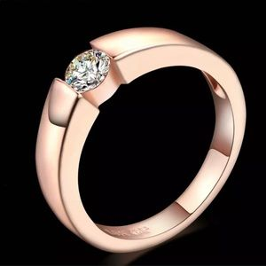 Clearance 🛑size 6🛑18K GP Rose gold zirconia ring